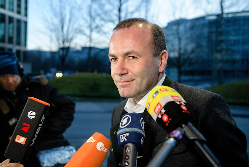 Manfred Weber has sparked a controversy with his comments over Christianity (Getty)