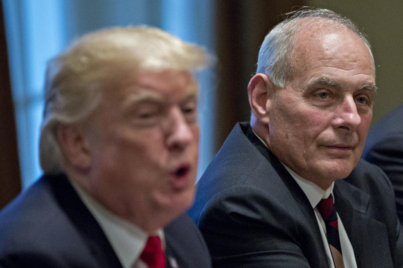 Donald Trump's Staff Insists He's Not Trying To Oust John Kelly