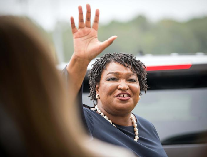Stacey Abrams, shown campaigning in 2018 for Georgia governor, in 2019 became the first African-American woman to give the response to the State of the Union.