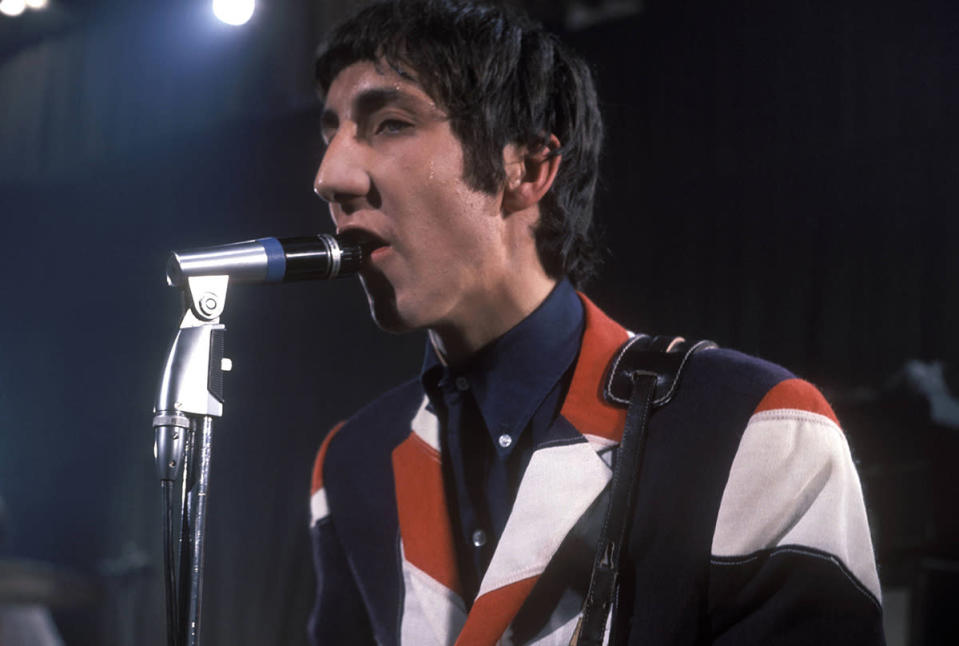 """<p>A huge Who fan who liked wearing a Pete Townshend-style Union Jack jacket (see left) was twice told to remove it – in case someone was offended. Jason Mawer, a publican, was told by an """"official"""" his jacket could be deemed offensive. Of course, it's not the first time the flag has been """"banned"""". Last year, police were told they were not allowed to wear a Union Jack patch in tribute to killed PC David Phillips.<i> (Credit: Getty)</i><br></p>"""