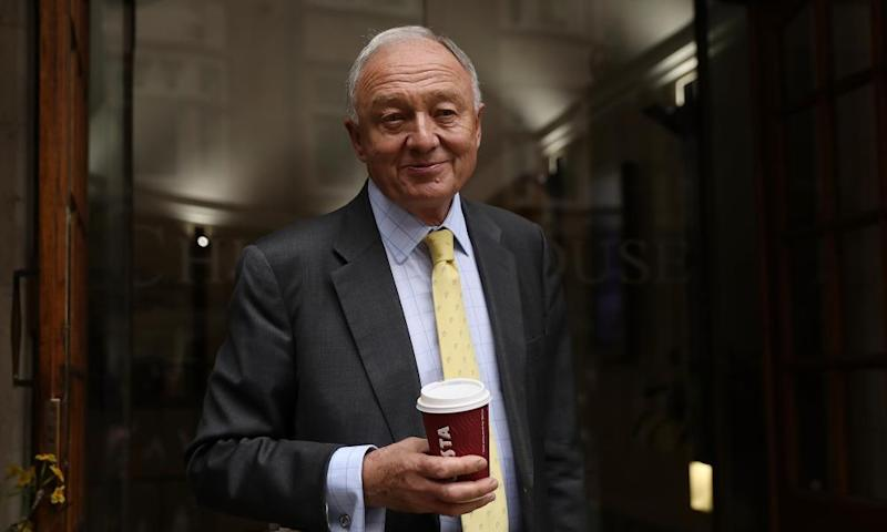 Ken Livingstone arrives at his Labour party disciplinary hearing.