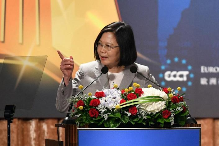 Relations between Taiwan and China have worsened since Beijing-sceptic Tsai came to power (AFP Photo/SAM YEH)