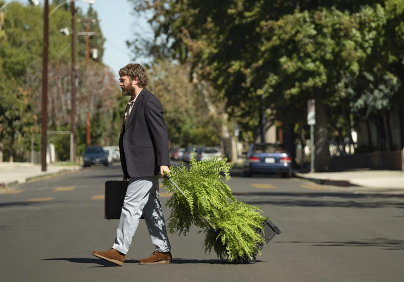 """This image released by Netflix shows Zach Galifianakis in """"Between Two Ferns: The Movie."""" (Adam Rose/Netflix via AP)"""