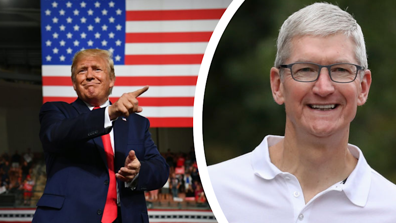 Trump says he is having dinner Friday with Apple CEO Cook