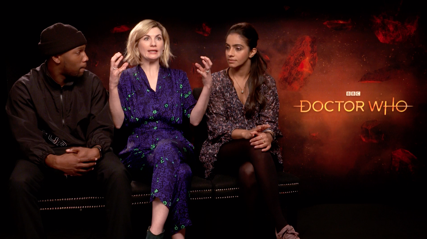 Tosin Cole, Jodie Whittaker and Mandip Gill tease what fans can expect to see in the latest season of the long-running sci-fi series. Doctor Who returns in 2020 on New Year's Day.