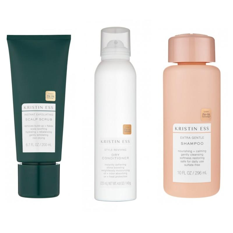20% off Kristin Ess products at Priceline like this shampoo, scalp scrub and dry conditioner.