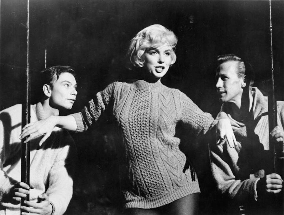 Get your sweater on ... Marilyn Monroe in the film Let's Make Love.