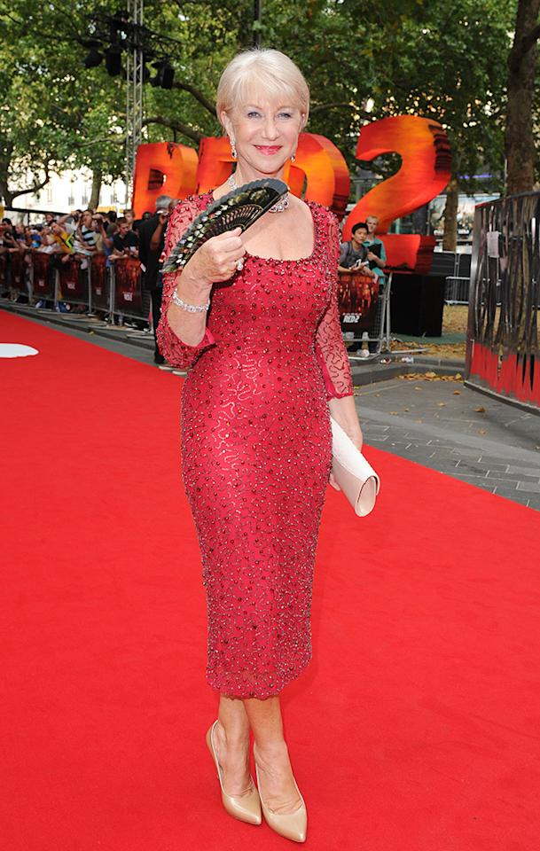 Celebrities walk the red carpet at the 'Red 2' Premiere at The Empire Theatre in Leicester Square in London, UK.