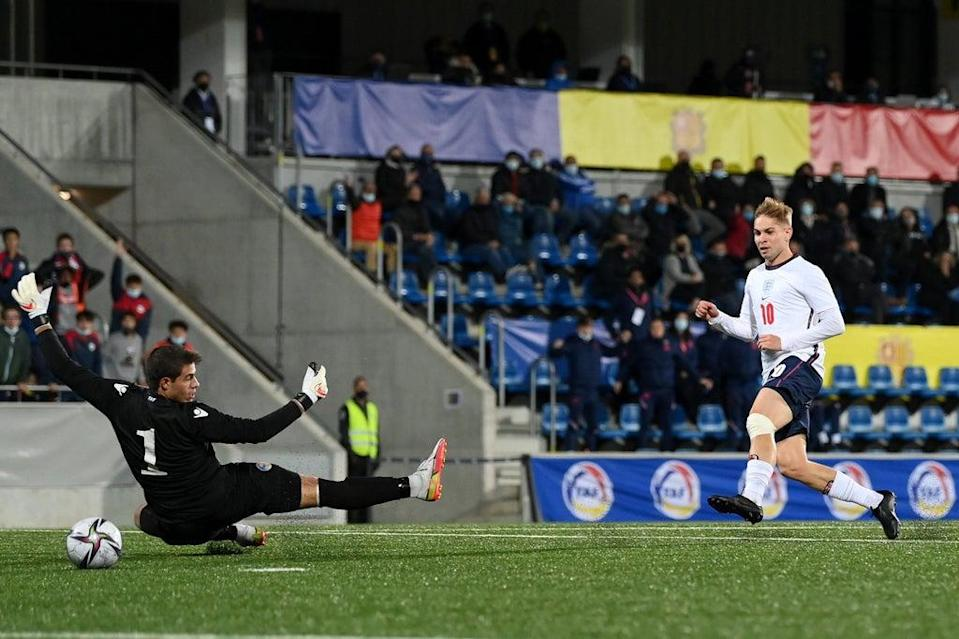 Emile Smith Rowe scores England's winner (The FA via Getty Images)