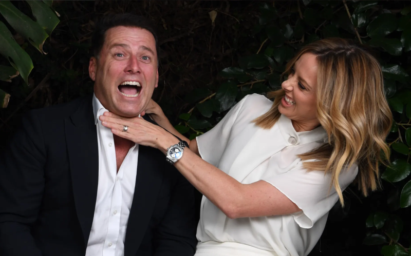 Today show hosts Karl Stefanovic and Allison Langdon