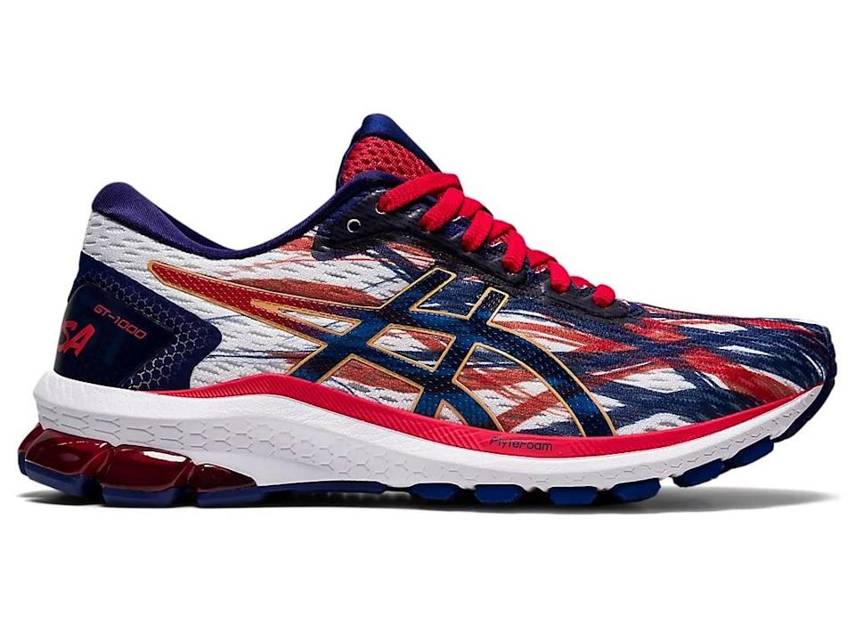 <p>We love the pops of red and blue on these <span>Asics Women's GT-1000 9 Sneakers</span> ($80, originally $100).</p>