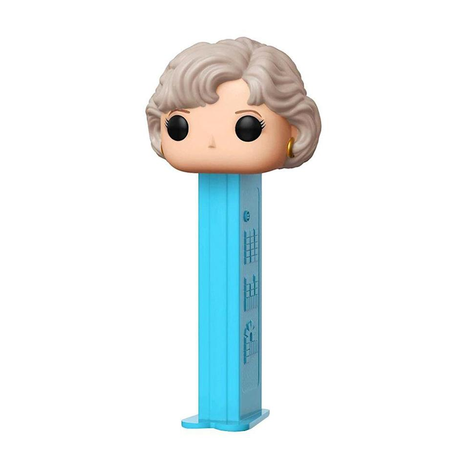 """<p><strong>Funko</strong></p><p>amazon.com</p><p><a href=""""http://www.amazon.com/dp/B07JN49KHZ/?tag=syn-yahoo-20&ascsubtag=%5Bartid%7C2089.g.2706%5Bsrc%7Cyahoo-us"""" rel=""""nofollow noopener"""" target=""""_blank"""" data-ylk=""""slk:Shop Now"""" class=""""link rapid-noclick-resp"""">Shop Now</a></p><p>Even your <em>snack</em> can be<em> Golden Girls</em>-themed with this PEZ dispenser! There's one for each of the four women, so you might want to collect them all.</p>"""