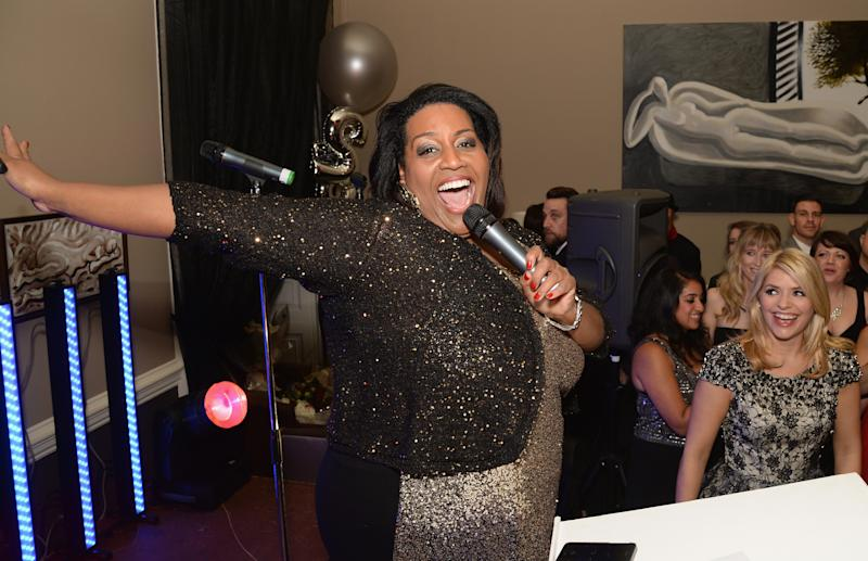 LONDON, ENGLAND - NOVEMBER 18: Alison Hammond speaks as she attends the This Morning 25th Anniversary at Home House on November 18, 2013 in London, England. (Photo by Dave J Hogan/Getty Images)