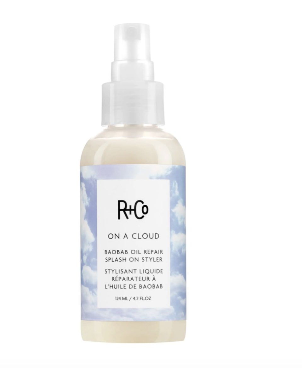 """<p><strong>R+Co ON A CLOUD Baobab Oil Repair Splash-On Styler</strong></p><p>randco.com</p><p><strong>$32.00</strong></p><p><a href=""""https://www.randco.com/on-a-cloud-baobab-repair-splash-on-styler"""" rel=""""nofollow noopener"""" target=""""_blank"""" data-ylk=""""slk:Shop Now"""" class=""""link rapid-noclick-resp"""">Shop Now</a></p>"""