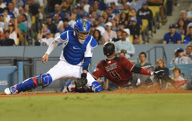 The Diamondbacks slid by the Dodgers for their 13th straight win on Wednesday, but still missed out on an MLB record. (Getty Images)
