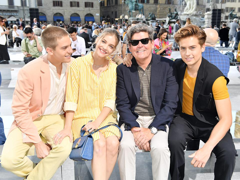 Dylan Sprouse, Barbara Palvin, Matthew Sprouse, and Cole Sprouse in 2019.