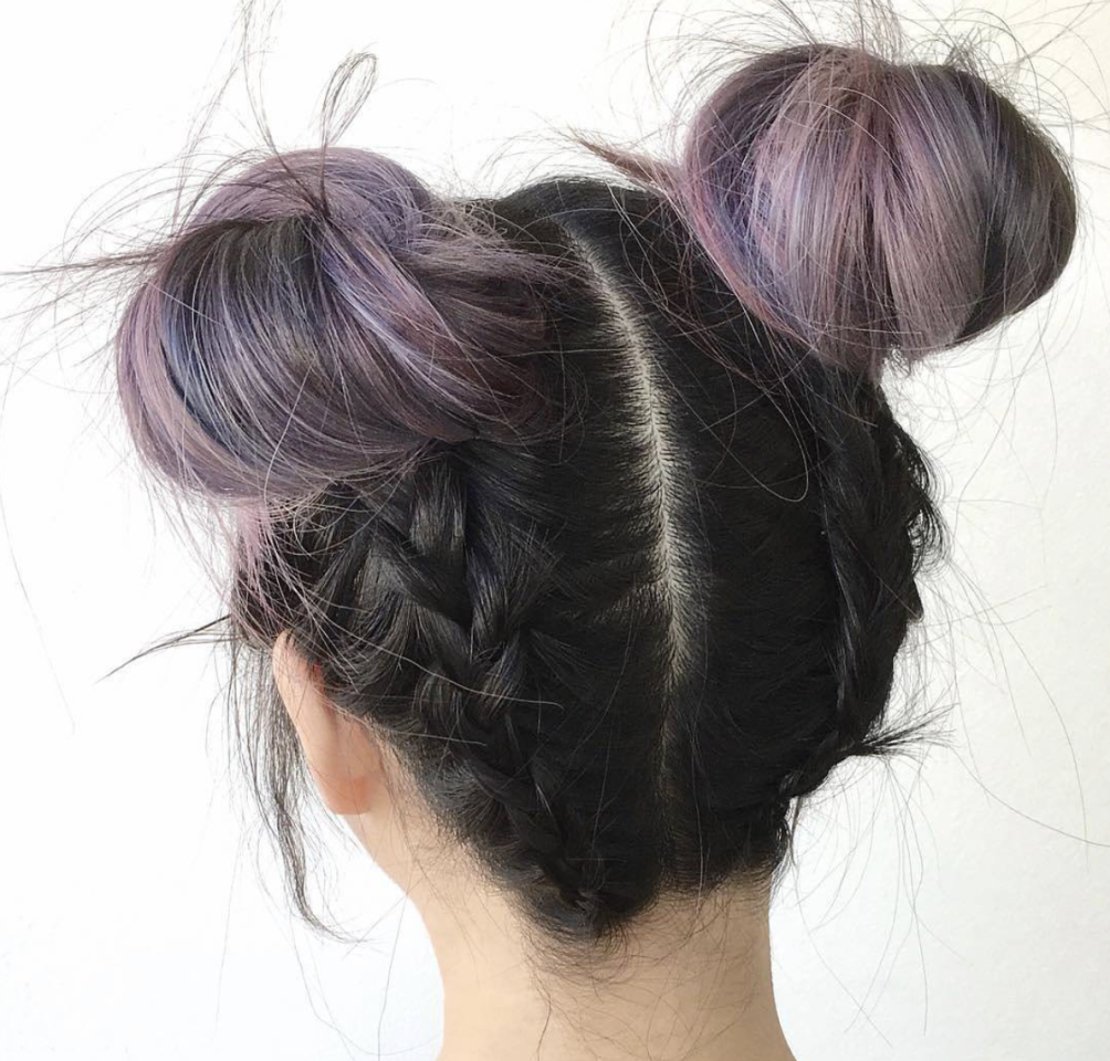 """<p>Get those hair chalks at the ready and prepare to take your space buns to new levels by adding a pop of colour.<a rel=""""nofollow"""" href=""""https://www.instagram.com/p/BS5yxFUFM8K/?taken-by=dearmiju""""> [Photo: Dear Miju/ Instagram]</a> </p>"""