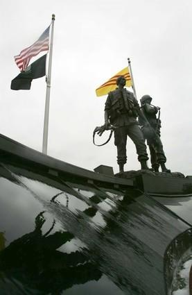 The Vietnam War Memorial which is located in Sid Goldstein Freedom Park in Westminster.
