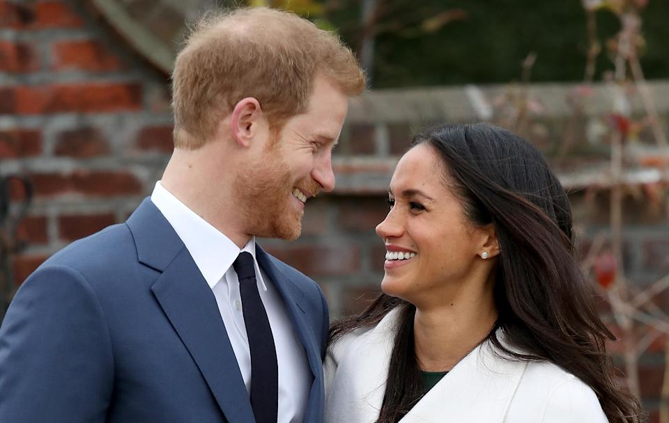 Prince Harry and Meghan Markle's wedding rings have been given the ultimate royal stamp of approval [Photo: Getty]