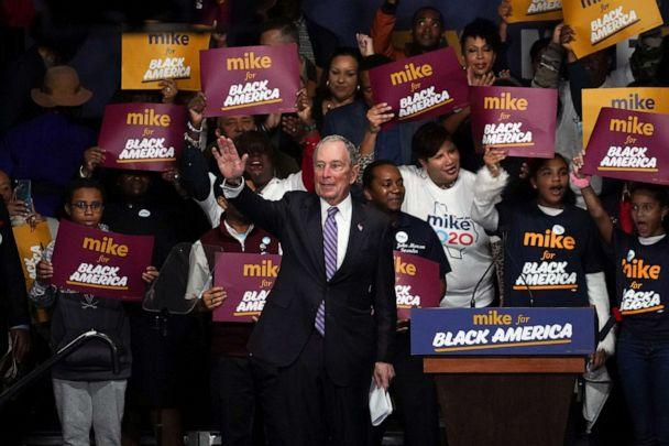 PHOTO: Democratic presidential candidate Michael Bloomberg attends a campaign event at Buffalo Soldiers national museum in Houston, Feb. 13, 2020. (Go Nakamura/Reuters, FILE)