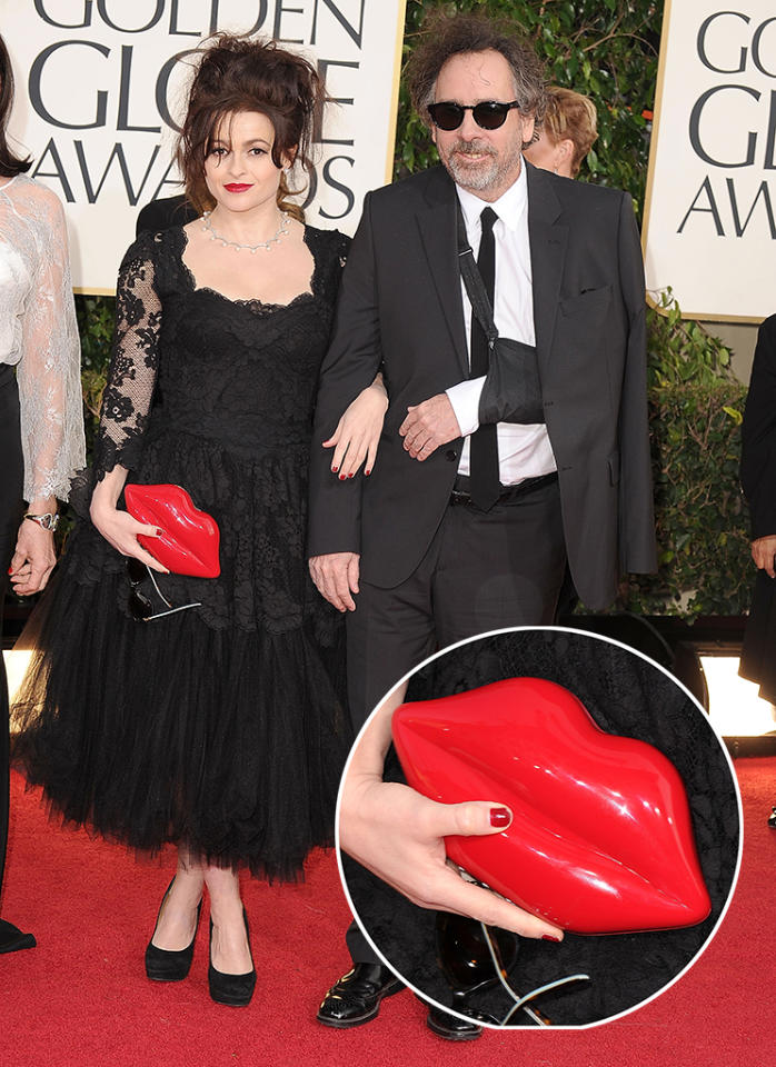 Helena Bonham Carter and Tim Burton arrives at the 70th Annual Golden Globe Awards at The Beverly Hilton Hotel on January 13, 2013 in Beverly Hills, California.  (Photo by Steve Granitz/WireImage)
