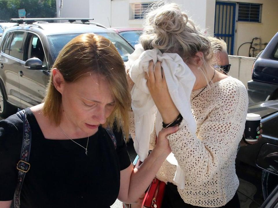 A British woman convicted of lying about being gang-raped in Cyprus has filed an appeal to the island's Supreme Court in a bid to clear her name (Katia Christodoulou/EPA)
