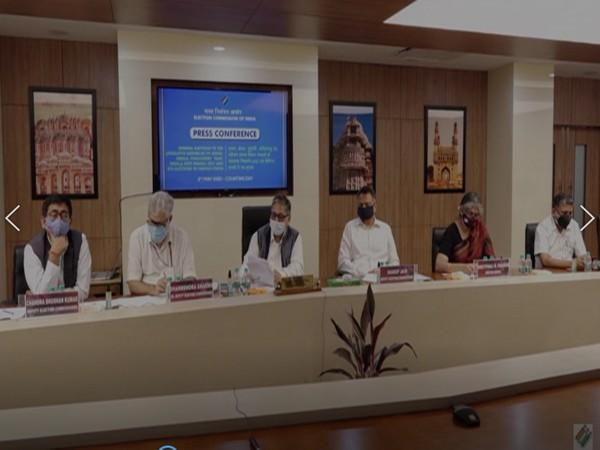 Visual from EC's Press Conference (Photo/ANI)