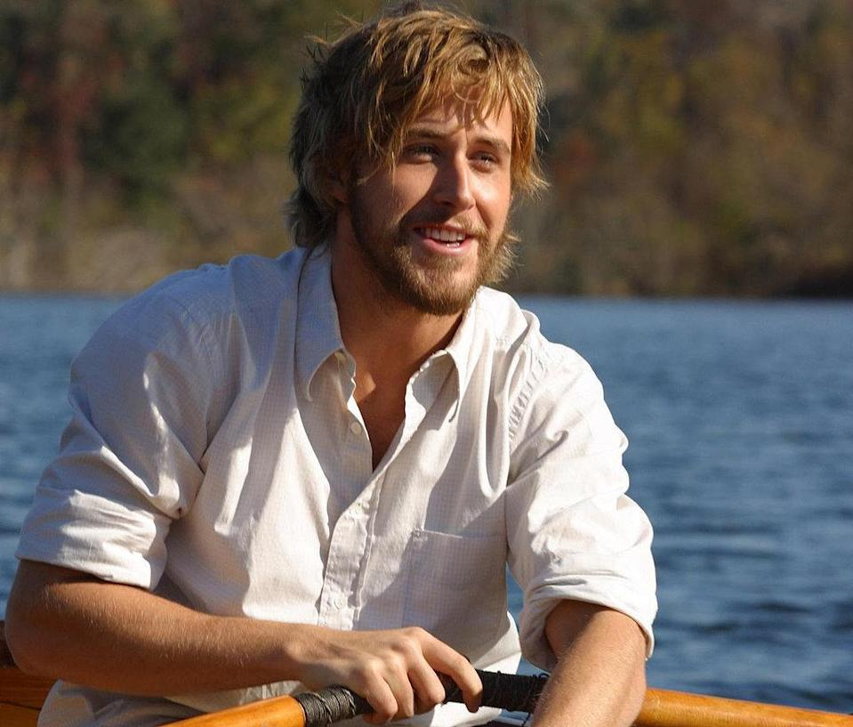"<p>This should be your No Shave November goal. No one can rock a full beard quite like Gosling as Noah Calhoun in ""The Notebook."" Yum. (Photo: New Line Cinema)</p>"
