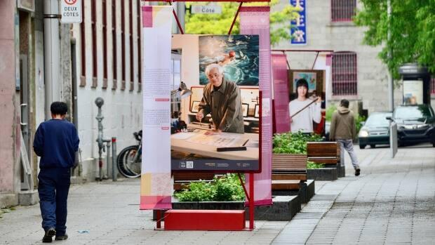 A public photo gallery, currently on display in Chinatown, highlights the history of the area.
