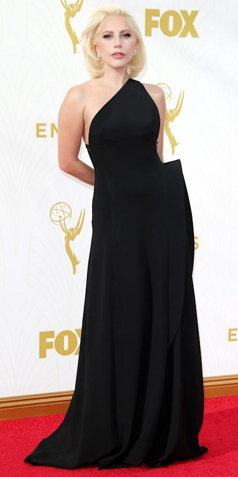 <p>The musician and actress stunned in a Brandon Maxwell gown (her go-to designer) at the 67th Primetime Emmy Awards.</p>