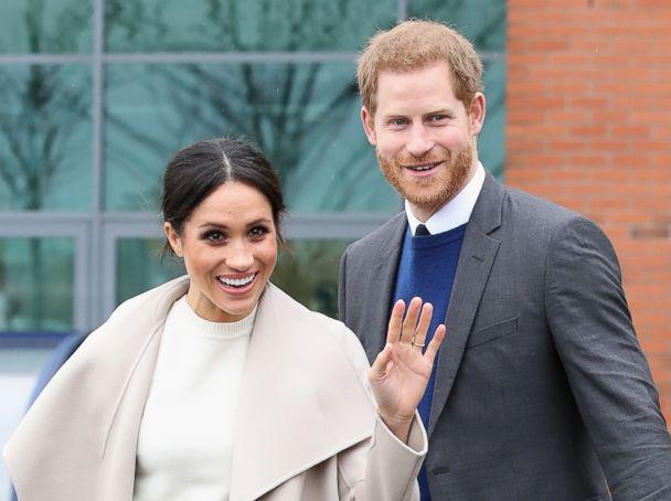 PHOTO: Prince Harry and Meghan Markle visit Catalyst Inc, a next generation science park, to meet young entrepreneurs and innovators, March 23, 2018, in Belfast, Northern Ireland. (Samir Hussein/WireImage/Getty Images)