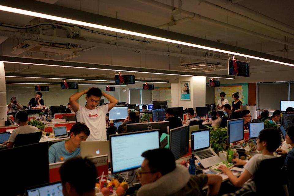 Private sector employees in China start an online campaign to protest against 996 Office Culture
