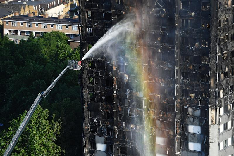 Firefighters tackle the Grenfell Tower blaze (PA Images)