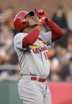 Oscar Taveras was ranked as one of MLB's top prospects prior to the season. (AP)