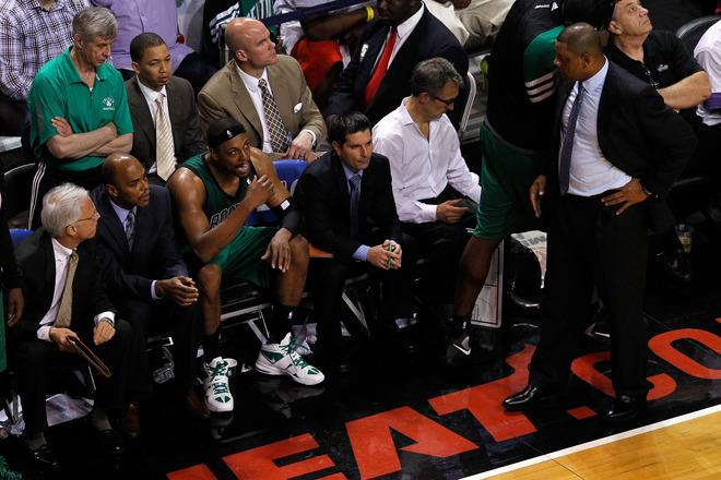 Paul Pierce #34 Of The Boston Celtics Talks Getty Images
