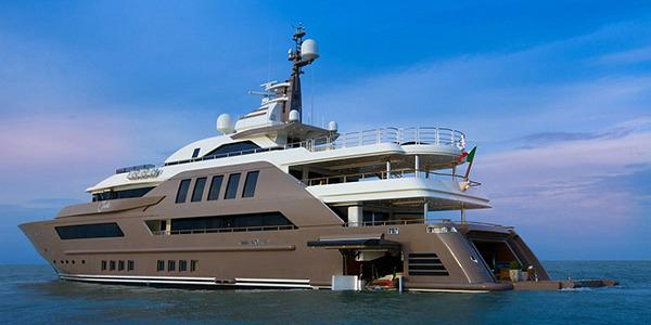 <p>Extras like helipads and movie theatres are common for the yachts of the rich and famous but mega-yacht J'ade, designed by CRN, is the world's first to feature a floating garage. This luxury vessel was nominated for Best Interior at 2014 Monaco Yacht Show and it is easy to see why.</p>