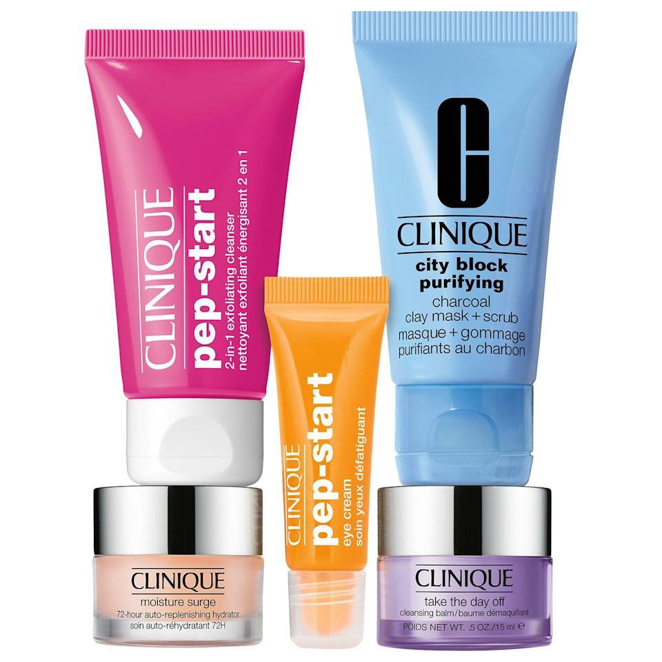 """<p><strong>CLINIQUE</strong></p><p>sephora.com</p><p><strong>$25.00</strong></p><p><a href=""""https://go.redirectingat.com?id=74968X1596630&url=https%3A%2F%2Fwww.sephora.com%2Fproduct%2Fskin-refreshers-kit-P446644&sref=https%3A%2F%2Fwww.womenshealthmag.com%2Flife%2Fg33822690%2Fcheap-christmas-gifts%2F"""" rel=""""nofollow noopener"""" target=""""_blank"""" data-ylk=""""slk:Shop Now"""" class=""""link rapid-noclick-resp"""">Shop Now</a></p><p>Skincare is, hands down, usually the best kind of gift you can give. This Clinique set features some of the brand's best-selling products in mini form, so you mom can test them all out before investing in her favs. </p>"""