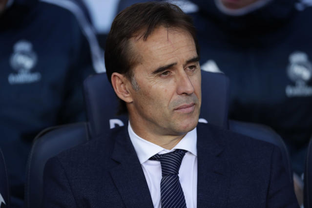 Real Madrid manager Julen Lopetegui has been fired after four months with the team. (AP Photo/Manu Fernandez)