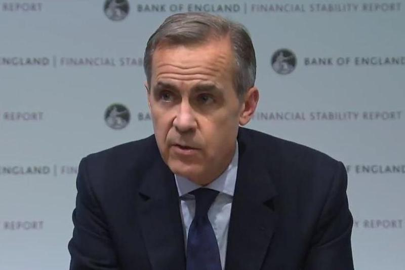 Bank of England governor Mark Carney gave a press conference on Wednesday: Sky News