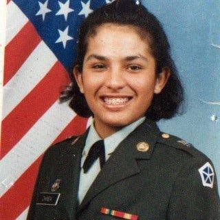 Lucy Del Gaudio joined the Army after her father passed away and her mother couldn't afford to keep in her college.