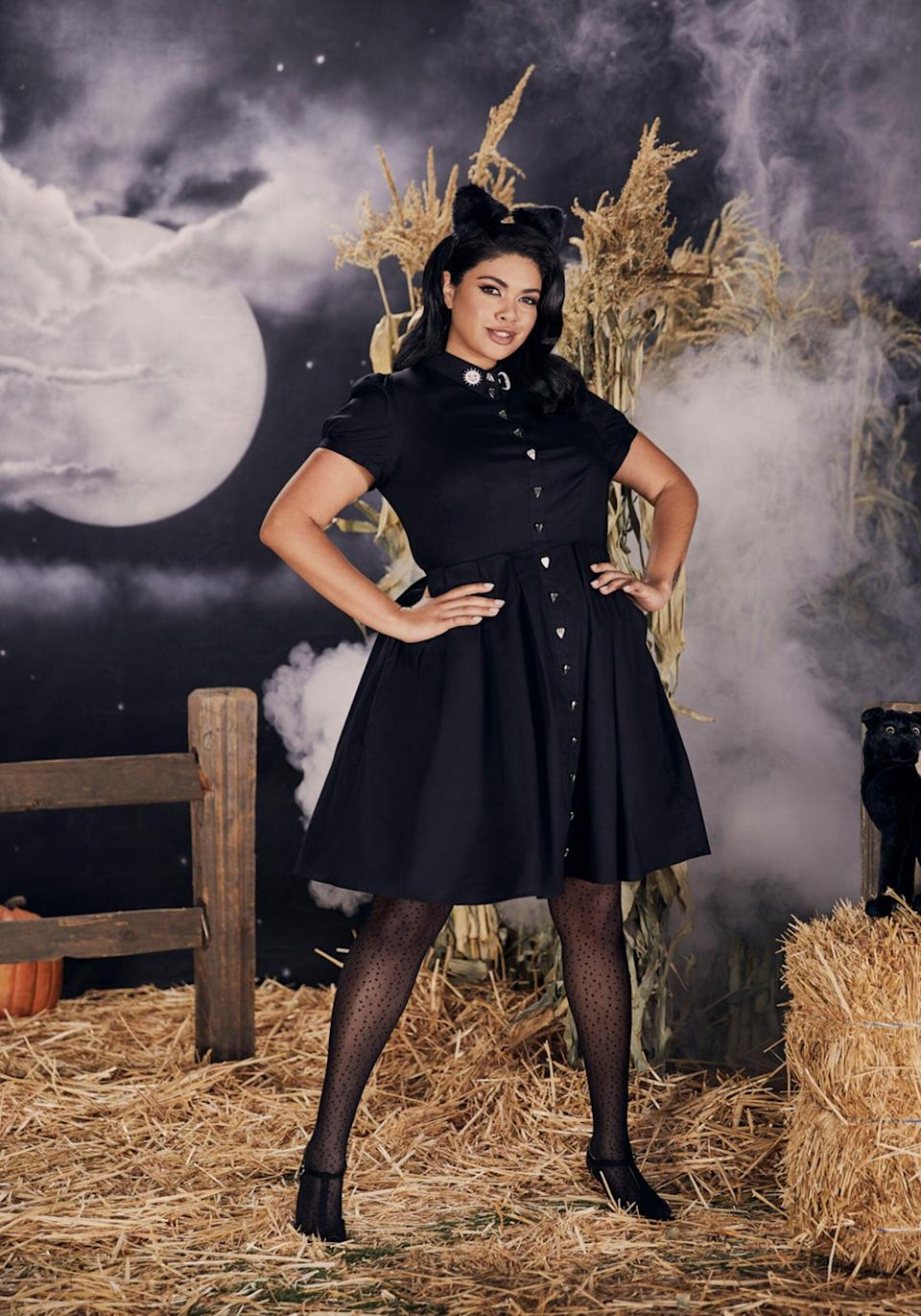 <p>The <span>Season of the Witch A-Line Dress</span> ($99) is a bewitching option that you can pull off as a costume or by itself.</p>
