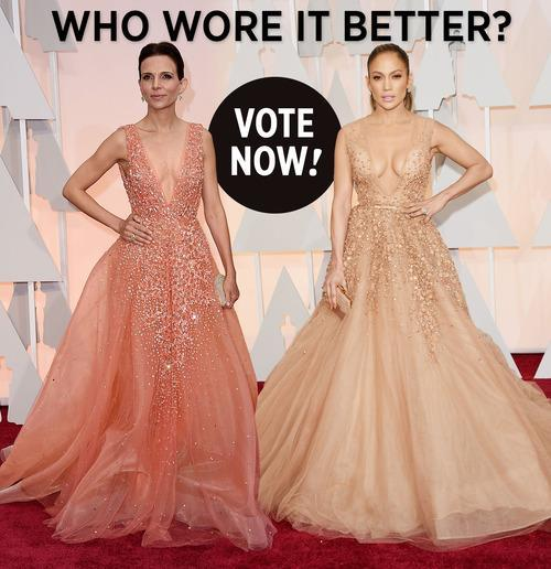 Nearly Every Dress Lebanese Designer Elie Saab Sends Down His Runway Is Red Carpet Worthy So It S Not Surprising That Two Women Would Reach For The Same
