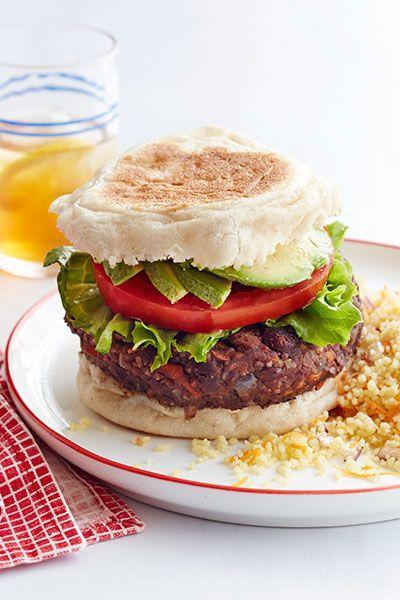 "<p>If you like a little heat, add red pepper flakes to your patties and serve with jalapeños for an added kick.</p><p><a href=""https://www.womansday.com/food-recipes/food-drinks/recipes/a12484/black-bean-veggie-burger-couscous-recipe-wdy0714/"" rel=""nofollow noopener"" target=""_blank"" data-ylk=""slk:Get the recipe."" class=""link rapid-noclick-resp""><strong>Get the recipe.</strong></a></p>"