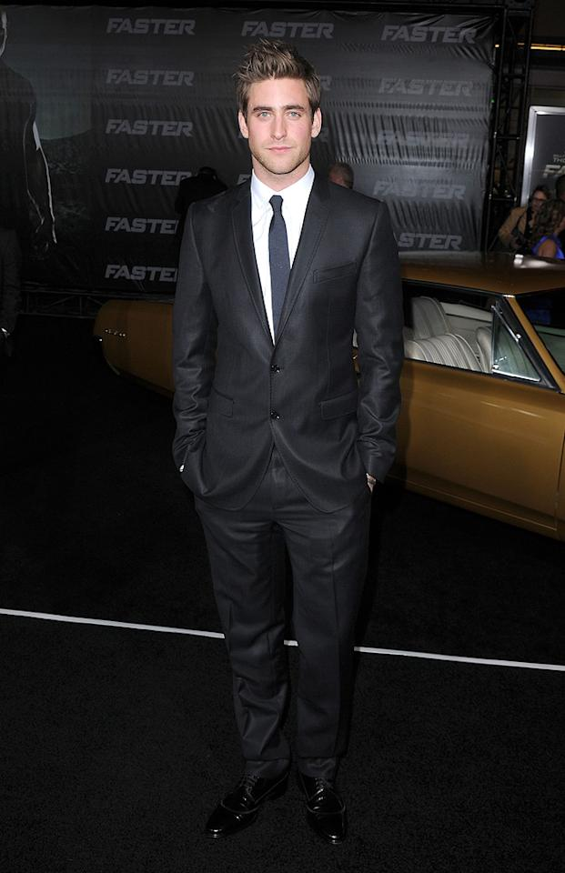"<a href=""http://movies.yahoo.com/movie/contributor/1810173056"">Oliver Jackson-Cohen</a> at the Los Angeles premiere of <a href=""http://movies.yahoo.com/movie/1810147419/info"">Faster</a> on November 22, 2010."