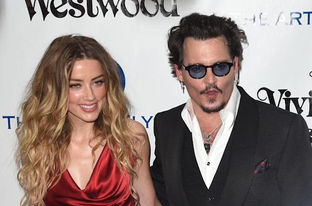 Amber Heard y Johnny Depp a principios de 2016. (Foto: C Flanigan / Getty Images)