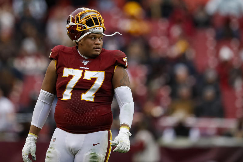 Ereck Flowers got a big payday with the Dolphins. (Photo by Scott Taetsch/Getty Images)