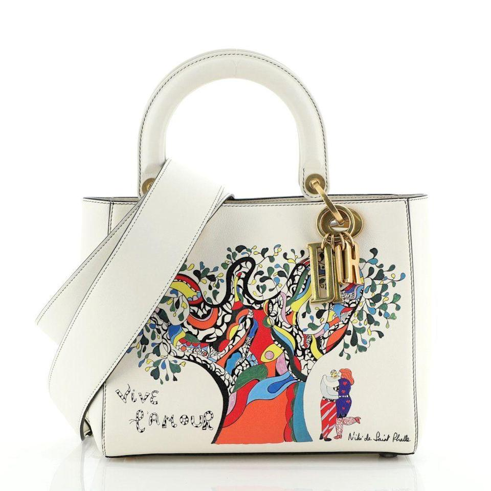 """<p><strong>Christian Dior</strong></p><p>rebag.com</p><p><strong>$3655.00</strong></p><p><a href=""""https://shop.rebag.com/collections/new-arrivals/products/handbags-christian-dior-supple-lady-dior-bag-limited-edition-niki-de-saint-phalle-printed-leather-medium57112156"""" rel=""""nofollow noopener"""" target=""""_blank"""" data-ylk=""""slk:Shop Now"""" class=""""link rapid-noclick-resp"""">Shop Now</a></p><p><strong><em>Charles Gorra, CEO and founder</em></strong></p><p><strong>About Rebag: </strong>Rebag was designed to offer simplicity, transparency, and immediacy—factors that luxury owners expect from a luxury brand. Unlike consignment or peer-to-peer alternatives, we buy items outright with quick and up-front payment. You can get an instant offer online or visit us in stores to sell in less than an hour for cash or Rebag Credit.</p><p>Our goal is to provide endless access to luxury. Rebag customers can enjoy the circular fashion experience with minimal friction, as with our Rebag Infinity program, they can sell their luxury goods for Rebag Credit to put toward a new purchase, which they can exchange again or sell back to us later down the line. It is truly the one-stop shop for everything handbags and accessories.</p><p><strong>On how to purchase a secondhand designer bag: </strong>The top two factors that every buyer should evaluate is the item's quality and its authenticity. Rebag listings are very thorough, as we have a detailed condition-grading rubric that not only summarizes the overall quality of the bag, but outlines every bit of wear—or lack thereof—that the item may have. On top of that, before we even list an item for sale, it goes through a rigorous vetting process by our in-house authentication team. So long as the item passes your personal quality standards and is authentic, we believe that you should indulge in whatever handbag you enjoy, whether it's an iconic staple or a hot new trend.</p><p>And lastly, if you are interested in reselling it down the line, it doesn't hurt t"""