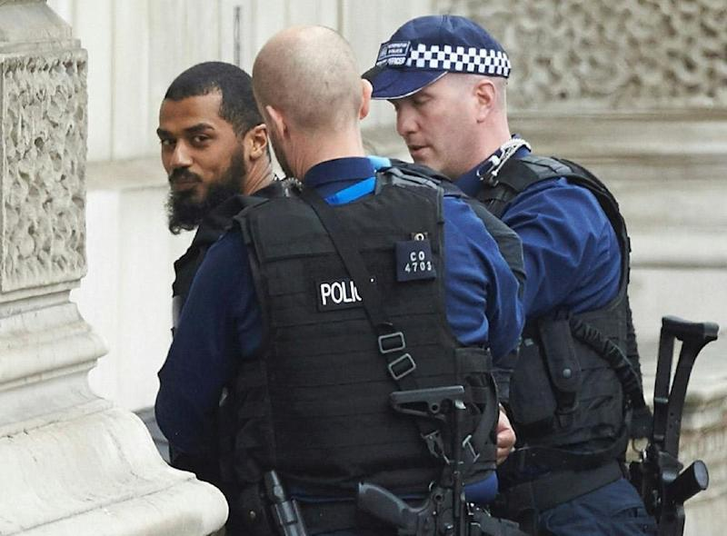 Arrest: Armed police arrested the suspect (AFP/Getty Images)
