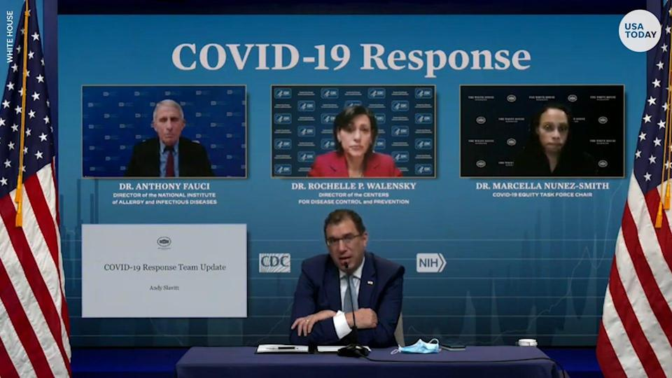 Health officials announced a deal to expand the use of an at-home COVID-19 test to provide about 8.5 million tests a month in the U.S.
