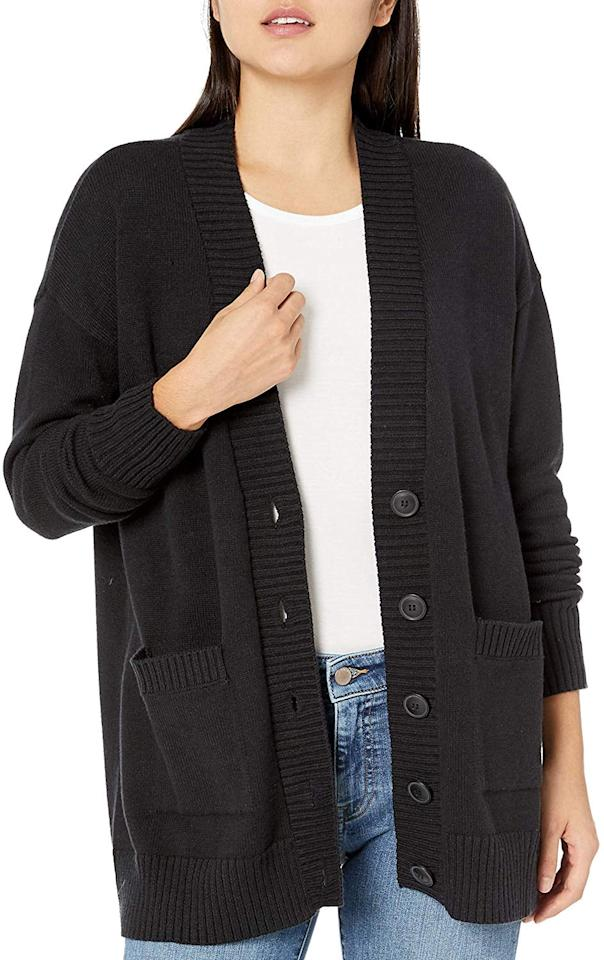 "<p>This <a href=""https://www.popsugar.com/buy/Drop-Carrie-Oversized-Button-Front-Cardigan-Sweater-508167?p_name=The%20Drop%20Carrie%20Oversized%20Button%20Front%20Cardigan%20Sweater&retailer=amazon.com&pid=508167&price=50&evar1=fab%3Aus&evar9=46822302&evar98=https%3A%2F%2Fwww.popsugar.com%2Ffashion%2Fphoto-gallery%2F46822302%2Fimage%2F46822447%2FDrop-Carrie-Oversized-Button-Front-Cardigan-Sweater&list1=shopping%2Cfall%20fashion%2Camazon%2Csweaters%2Ccardigans%2Cwinter%20fashion&prop13=mobile&pdata=1"" rel=""nofollow"" data-shoppable-link=""1"" target=""_blank"" class=""ga-track"" data-ga-category=""Related"" data-ga-label=""https://www.amazon.com/Drop-Oversized-Cardigan-Sweater-Heather/dp/B07VYXRW3T/ref=sr_1_37?dchild=1&amp;qid=1572368309&amp;rnid=1044456&amp;s=apparel&amp;sr=1-37&amp;th=1&amp;psc=1"" data-ga-action=""In-Line Links"">The Drop Carrie Oversized Button Front Cardigan Sweater</a> ($50) would look stylish over a midi dress.</p>"